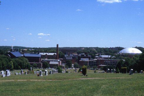 UConn Panorama and Graveyard