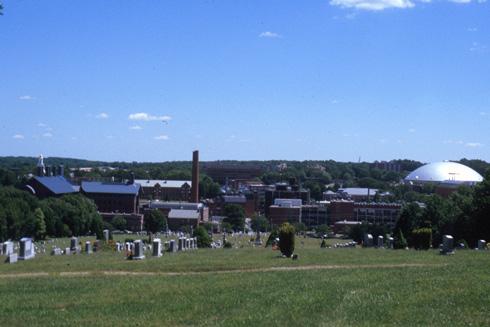 UConn Panorama and Graveyard