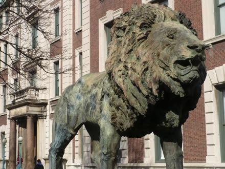 scholar lion statue