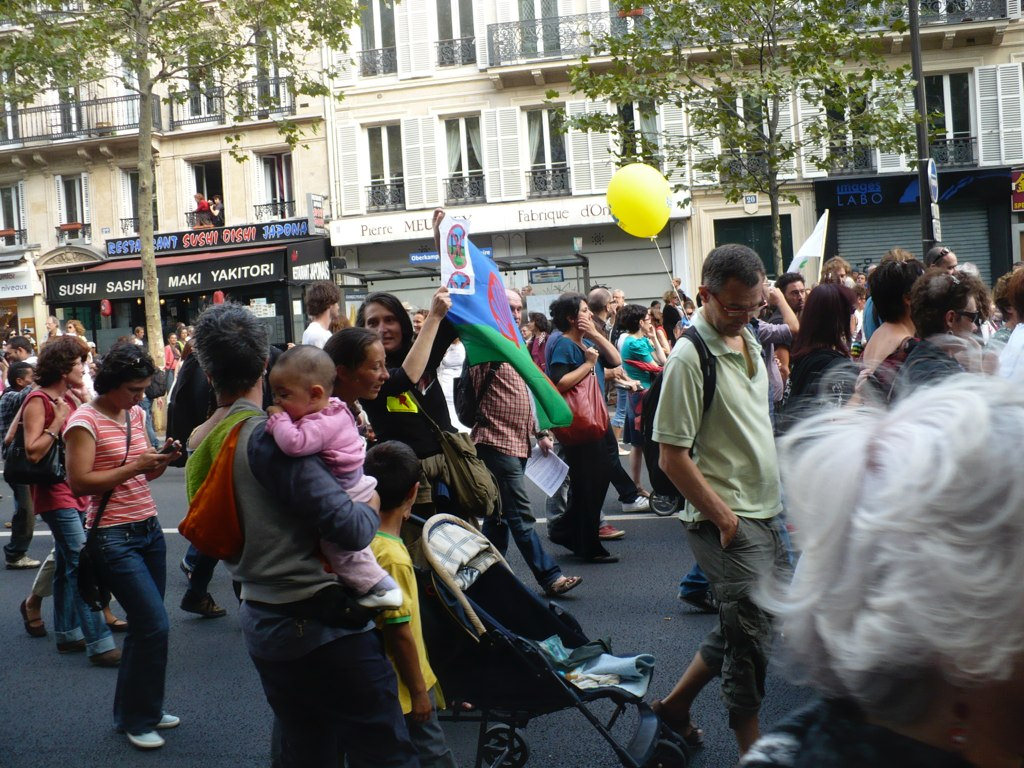 Protest in Paris, September 4, 2010